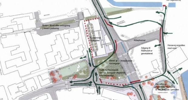 Trafikomlægninger i Hobro midtby | Hobro Portalen