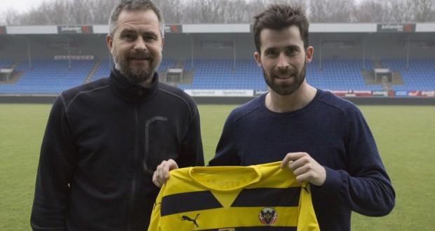 Sportschef Jens Hammer Sørensen og Martin Mikkelsen er netop blevet enige om en ny aftale. (Foto: Daniel Lindemann Jakobsen)